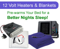 12-Volt Heaters & Blankets