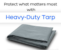 RoadPro 10′ x 12′ Heavy Duty Tarp - Silver