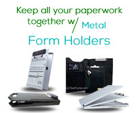 Metal Form Holders