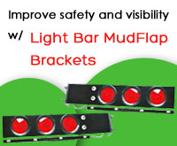 Rear Light Bar MudFlap Brackets