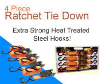 4 Piece Ratchet Tie Down
