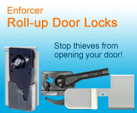 Enforcer Roll-Up Door Truck Locks