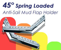 "45° 30"" Spring Loaded Anti-Sail Mud Flap Holders"