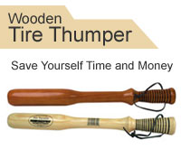 RoadPro Wooden Tire Thumper