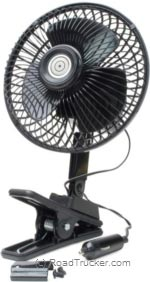 RoadPro - 12 Volt Quick Clip Multi Mount Oscillating Fan - RP-1137