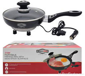 12 Volt Portable Frying Pan w/ Non-Stick Surface