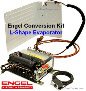 Engel 12 Volt Refrigerator Conversion Kits L shaped Evaporator SCQT4408F-U1-L