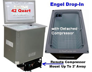 Engel Drop-In AC/DC Fridge-Freezer with Detached Compressor 42 Quart MB40V-D