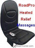 12-Volt 5 Motor Heated & Massaging Seat/Back Cushion - Black