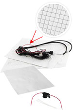 RoadPro 12-Volt Universal Dual Electronic Temperature Heated Seat Kit Carbon Fiber