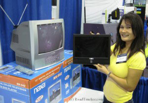 Marissa front view NAXA Widescreen AC DC Color TV DVD w/Remote NX550