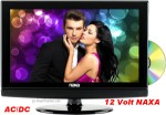 NAXA 12 Volt LED TV DVD Combo Digital Tuner NTD1552 16""