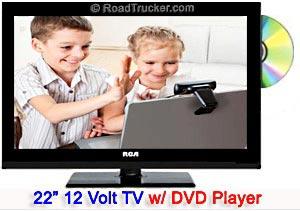 22 rca 12v led tv dvd combo deck22dr roadtrucker. Black Bedroom Furniture Sets. Home Design Ideas