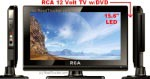 "RCA 12 Volt LED TV DVD Combo 15.6"" Digital Tuner DECK15DR"