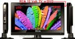"RCA 12 Volt LED TV DVD Combo 18.5"" Digital Tuner DECK18DR"