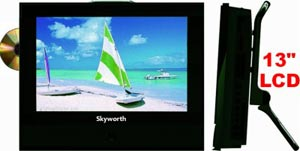 skyworth 13in lcd 12 volt tv dvd side slc 1369a 4 13 3\
