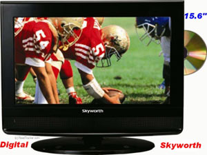 "Skyworth 12-Volt TV 15.6"" Widescreen LCD TV DVD Player SLC1519A"
