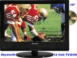 "Skyworth LED 12 Volt TV DVD 19"" (18.5"") Digital Tuner SLC1919A"