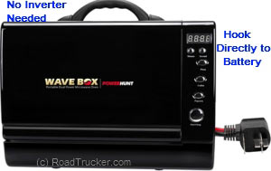 Wave Box AC/DC Portable Microwave 12 VDC/120 VAC at RoadTrucker com