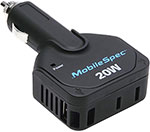 MobileSpec 20 Watt DC to AC Power Inverter 1.0 Amp USB Input