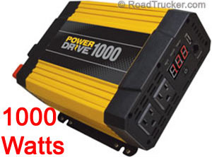 RoadPro PowerDrive 1000 Watt DC to AC Power Inverter USB RPPD1000