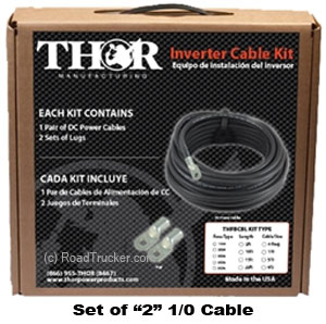 (Set of 2) 1/0 Cable