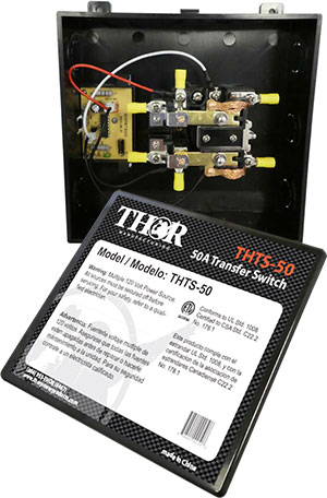 Thor - 50 Amp Transfer Switch - THTS-50