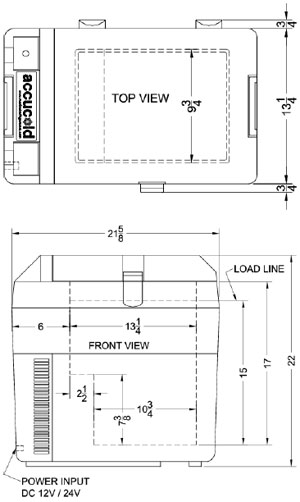Summit 12 Volt Refrigerator Layout SPRF36