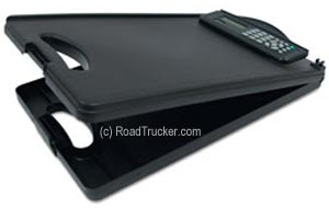 RoadPro - Clipboard w/Storage and Calculator Top View