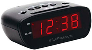 12-Volt Super-Loud LED Alarm Clock E30902