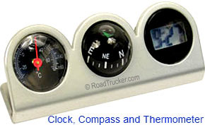 Custom Accessories 11159 Compass Clock and Thermometer Combo