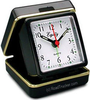 Quartz Folding Travel Alarm Clock with Luminous Hands & Dots 20080