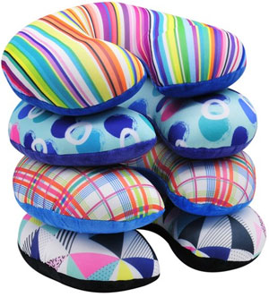 Print Microbeads Neck Pillow Assorted Colors