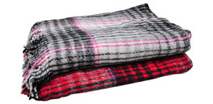 Assorted Colors 5′ x 7′ Striped Falsa Blanket Min=20