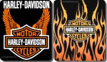 "50"" x 60"" Fleece Harley Davidson Blanket, Flames or Wings"