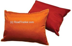 "14"" x 19"" Satin Covered Polyester Filled Travel Pillows"