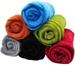 "50"" x 60"" Plush Rolled Throw Blanket Assortment"