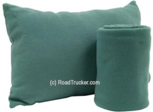 "50"" x 60"" Fleece Blanket and Pillow Set in Blue Green"