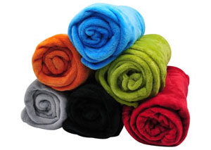 "50"" x 60"" Fleece Blanket and Pillow Set, Assorted Colors"