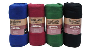 "50"" x 60"" Fleece Throw, Assorted Colors"