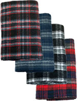 Large Utility Brushed Plaid Blanket Assortment
