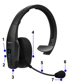 blueparrott deluxe class 1 headset w extended boom mic. Black Bedroom Furniture Sets. Home Design Ideas