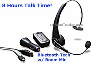 MobileSpec - Bluetooth v2.0 Single Ear Headset with Boom Mic, Answer/End & Volume Control - MSCBTOHNC
