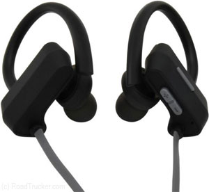 MobileSpec - Bluetooth Wireless Earbuds w/ Ear Clips, Gray/Black - MBS11106