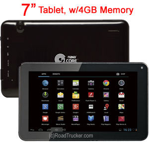 "Naxa 7"" Tablet, w/4GB Memory NID7010"