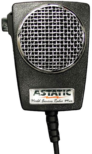 Astatic - Amplified Ceramic Power 4-Pin CB Microphone - 302-10005