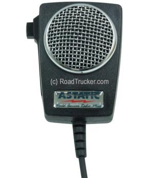 Astatic - D104M6B Amplified Ceramic Power CB Microphone - 302-D104M6B