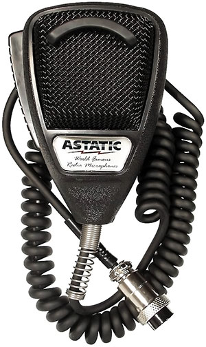 Astatic - 636L Noise Canceling 4-Pin CB Microphone -Black Bulk - 302-636LB1