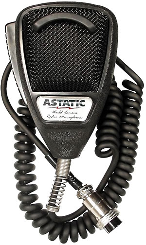 Astatic - 636L Noise Canceling 4-Pin CB Microphone - Black