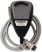 Astatic - 636LSE Noise Canceling 4-Pin CB Microphone Silver Edition